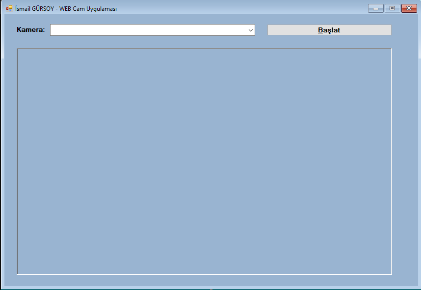 Csharp'ta WEBCAM Nasıl Kullanılır