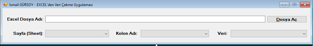 ExcelDataReader ile EXCEL'den Combobox'a Veri Aktarma İşlemleri
