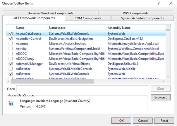ReportViewer Kontrolünün Visual Studio 2017'ye Eklenmesi
