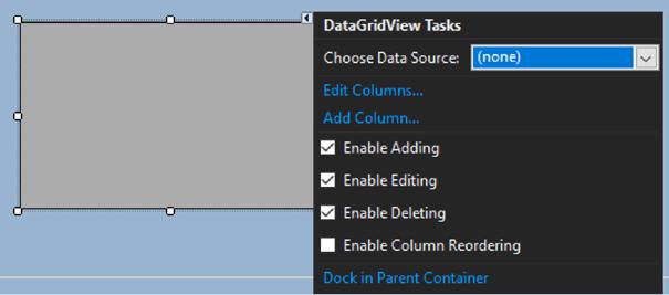 DataGridView Dock