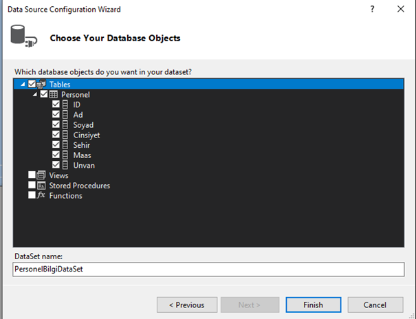 Data Source Configuration for DataGridView