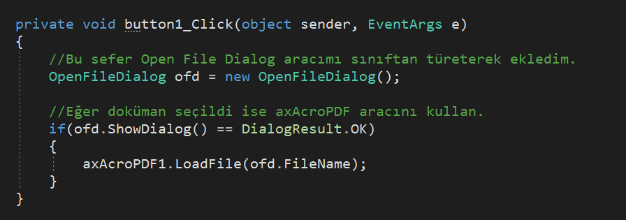 Adobe PDF Viewer axAcroPDF Kullanımı